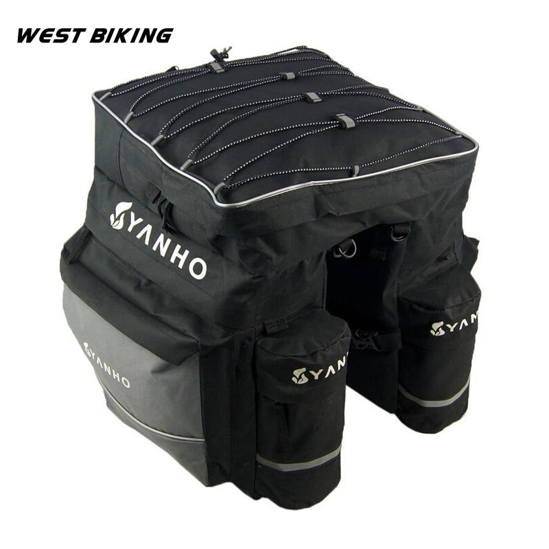 WEST BIKING Bike Cycling Mountain Bike Pack Package Shelf Delivery Equipment Rainproof Bicycle Rear Rack Bag цена