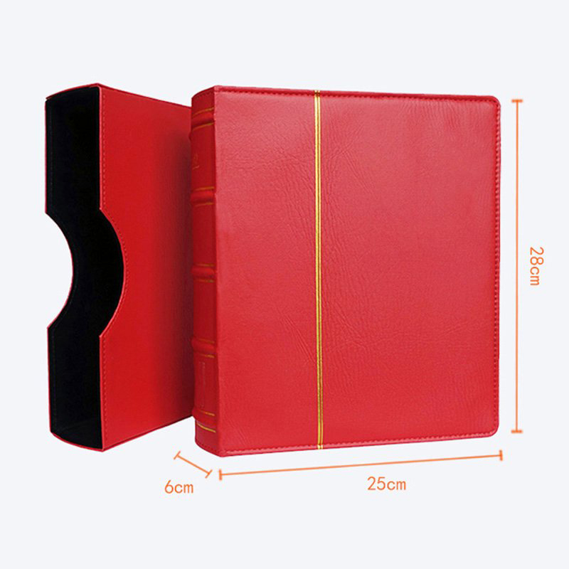 Hard Cover 70 Sheets 25 28CM Coin Book Holder Paper Currency Banknote Collection Money Coin Protection