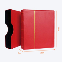 Hard Cover 70 Sheets 25*28CM Coin Book Holder Paper Currency Banknote Collection Money Coin Protection Book Memorial Coins Album