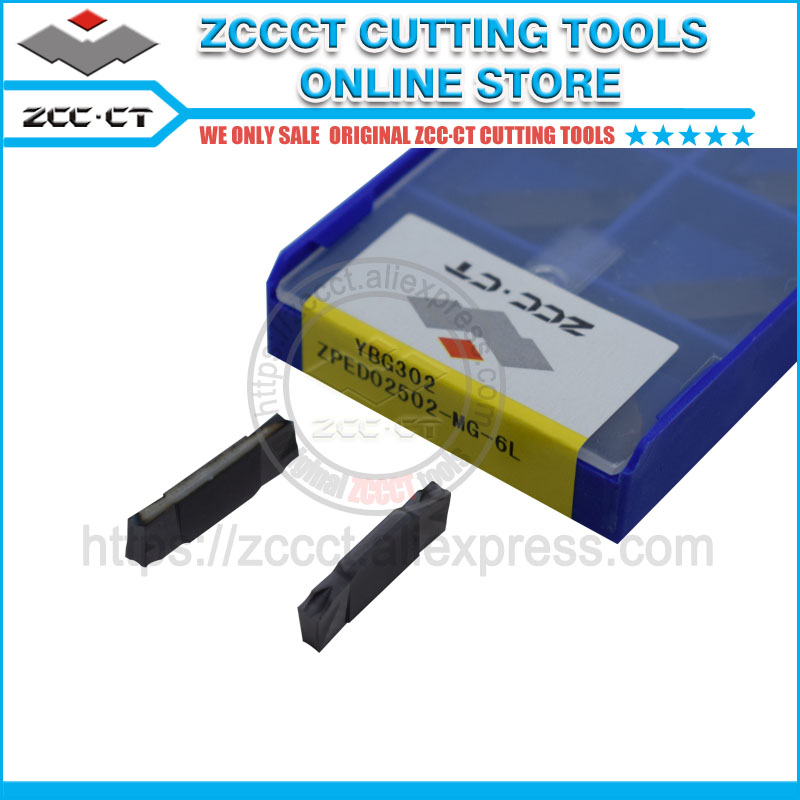 ZCC cutting tools cnc parting insert ZPED02502 MG 6L YBG302 lathe tool blade cutter