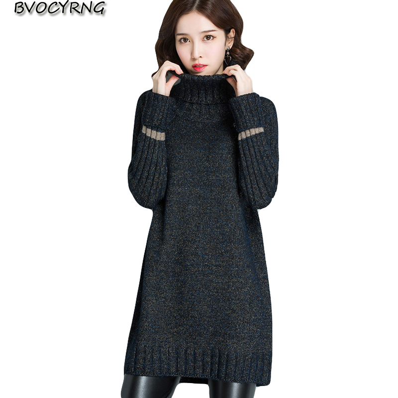 New fashion High neck sweater women's winter pullover sweate thick warm Bottoming tops women large size long knitt outerwear
