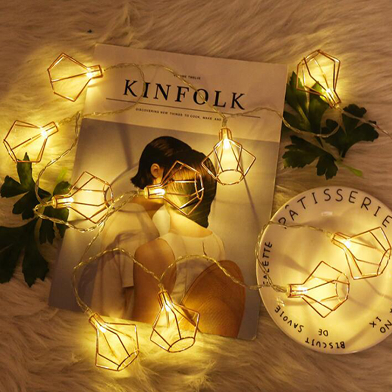 LED Diamond Lantern String Lamp New Year Hanging Light Fairy String Lights New Year Christmas Lights Lantern String Lamp