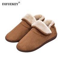 FAYUEKEY/большие размеры; высокое качество; сезон весна-осень-зима; домашние хлопковые плюшевые тапочки; мужские уличные теплые тапочки; кроссовки; обувь на плоской подошве; подарок