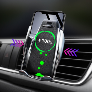 Image 2 - Automatic Clamping Fast Charging 10W Wireless Car Charger Phone Holder 360 Degree Mount Car for IPhone Samsung All Smart Phone