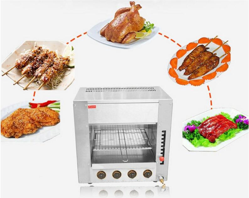 Gas Fish Griddle Commercial Oven Desktop Chicken Roaster Salamander Grill 4 Infrared Stove with Wave Plate FY 14.R|stove outdoor|stove kerosene|stoves dual fuel cooker - title=