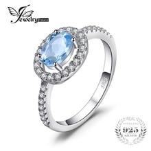Jewelrypalace круглый 1ct натуральный голубой топаз кольцо стерлингового серебра 925 Красивые ювелирные изделия Обручение кольцо для Для женщин ювелирные изделия на продажу