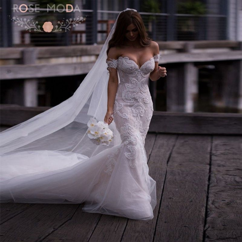Buy sexy deep sweetheart pearl beaded for Sexy designer wedding dresses