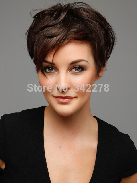5413f4985ba US $24.14 |Fashion New womens Chic womens Cut Hairstyle Synthetic Short  Wavy Wigs for African American Women Perruque Natural Pelucas/Per on ...