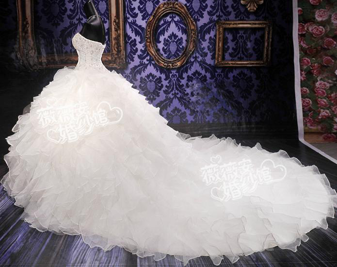 Ruffle Ball Gown Wedding Dress: More Detailed Picture About