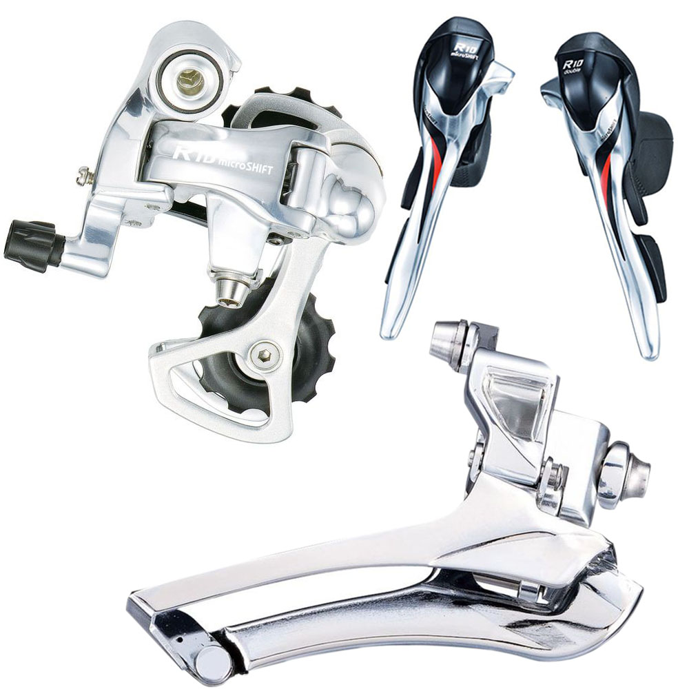 все цены на 2*10 Speed MICROSHIFT Road Bicycle Derailleur Front&Rear Derailleur with Shifter Lever suit for Shi man0 10 Speed Road Shifter онлайн
