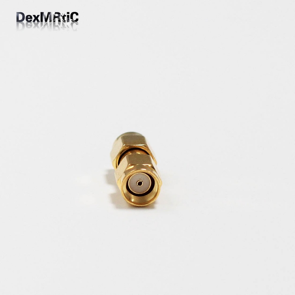 1pc RP-SMA Male Plug to RPSMA  Male Plug  RF Coax Adapter convertor  Straight  goldplated NEW wholesale rp sma female to y type 2x ip 9 ms156 male splitter combiner cable pigtail rg316 one sma point 2 ms156 connector for lte yota