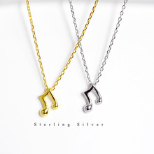 [FCY] s925 sterling silver note necklace simple temperament female music symbol clavicle chain personality jewelry thai silver necklace hand chain s925 sterling silver men clavicle necklace authentic wholesale