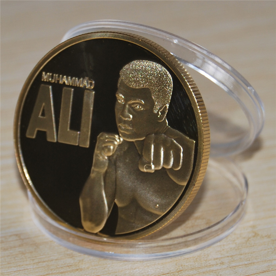 2016 Gold Coin,USA King Of Boxing Mohammed Ali Coin,10pcs/lot free shipping