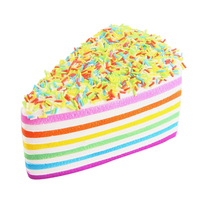 2017 Good Sale Squishy Rainbow Cake Bread Phone Straps Slow Rising Bun Charms Gifts Toys For