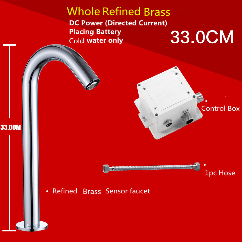 Hands Free Automatic Sensor Tap For Hot & Cold Water Bathroom Basin ...