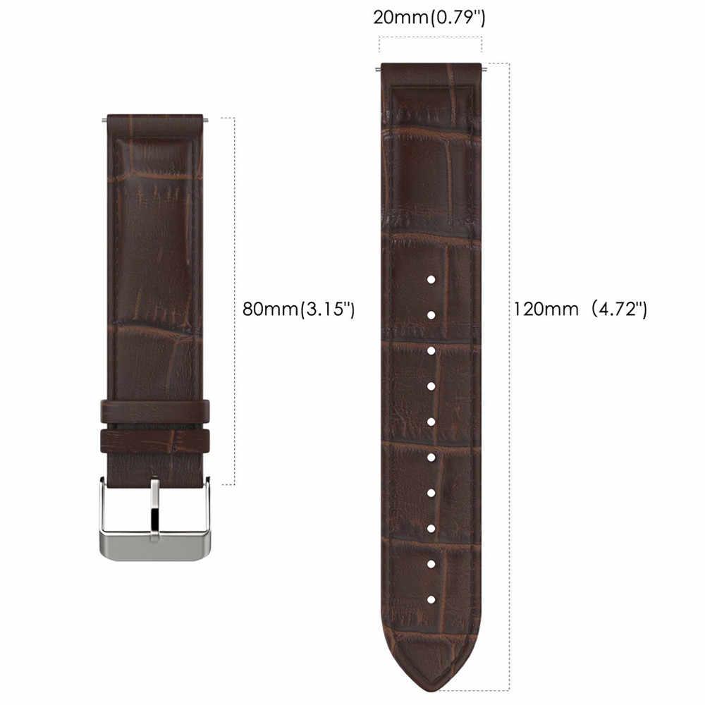 القادمون الجدد جلد طبيعي حزام (استيك) ساعة حزام لسامسونج غالاكسي والعتاد S2 الكلاسيكية SM-R732 قوي ودائم سهلة adjustAug29