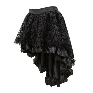 Image 5 - فساتين مشدية من الدانتيل ملابس داخلية كبيرة الحجم تنانير مشدية بسحاب للسيدات ملابس لوليتا ذات قصة قوطية مثيرة باللون الأسود
