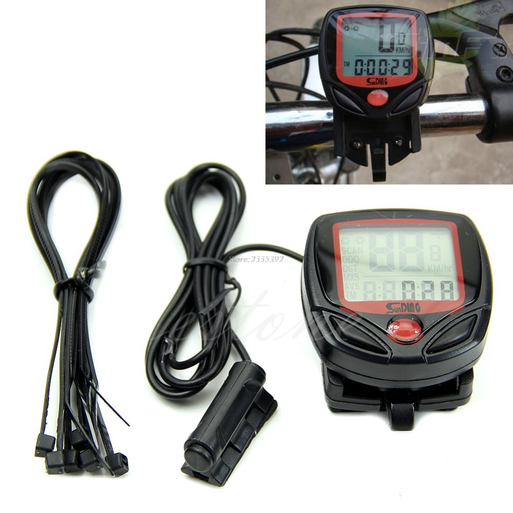 Waterproof Digital LCD Computer Cycle Bicycle Bike Speedometer Odometer JUN13 цены онлайн