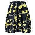 NUEVO 1044 Verano Sexy Chica Comics Negro El Logotipo de Batman impreso equipo de Animadoras Del Tutú Skater Mujeres Mini Falda Plisada Plus tamaño
