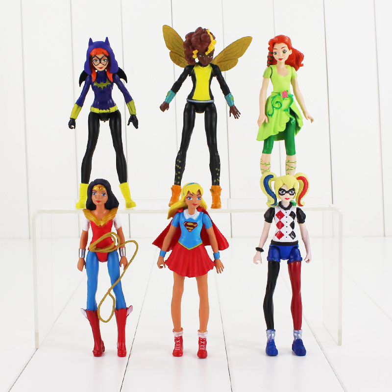 New arrival 6pcs/Lot suicide squad Wonder woman Batgirl Poison Ivy Bumble Bee Harley Quinn PVC Action Figure TOY футболка стрэйч printio poison ivy