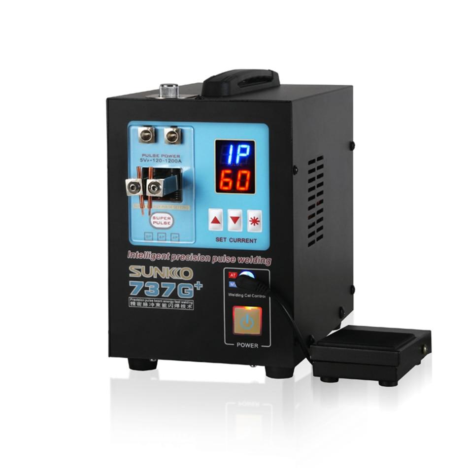 Image 2 - SUNKKO 737G 737G + smart boutique battery pack DIS inductive handheld dual function battery spot welderSpot Welders   -
