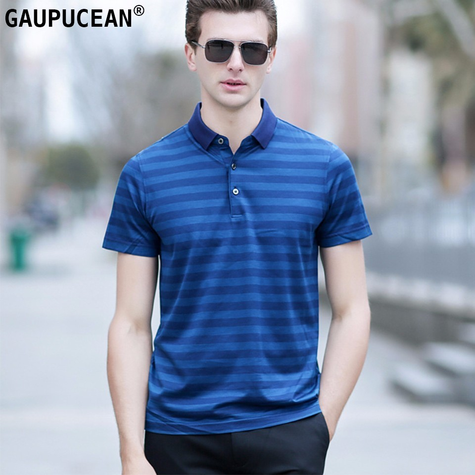 2018 New Top Mens Polo Shirt Autumn Long Sleeve Fashion Stripe Pique Cotton Fit Slim Male Casual Polo Shirts Men Tees 3xl Af8812 Polo