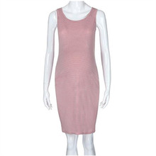 Pink Striped Maternity Dresses