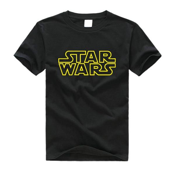 Star wars impresso camisa masculina masculina 2019 manga curta camiseta masculina tamanho XS-2XL