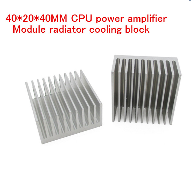 Free Ship 10PCS Aluminum Alloy Electronic Components Heat Sink 40*20*40MM CPU Power Amplifier Module Radiator Cooling Block