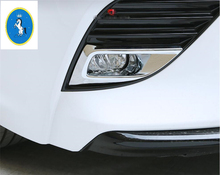Yimaautotrims Auto Accessory Front Foglight Fog Lights Lamp Frame Cover Trim 2 Pcs / Bright Style For Toyota Camry 2018 2019 ABS