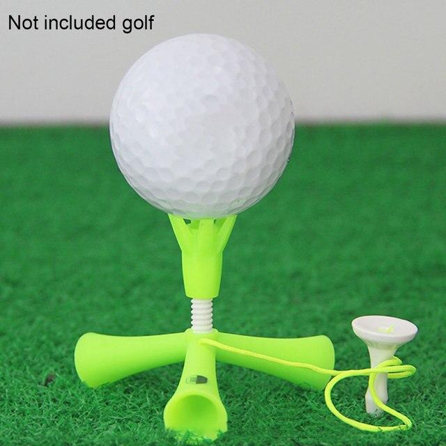 עצמי עומד עיסוק אימון גולף טי כדור מחזיק אנטי-עף Rotatable חצובה אביזרי מתכוונן גובה קל חיצוני