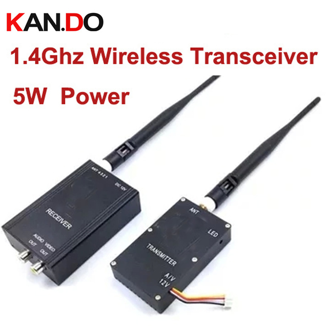 US $101 58 |5W 1 4G transceiver for drone cam 1400mhz frequency 1 4G Video  Audio Transmitter Receiver,1 4G FPV transmitter CCTV transmitter-in