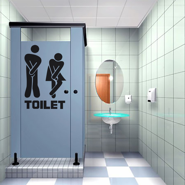 Captivating 1 PC PVC Hot Wall Stickers Wall Home Decoration Company Restaurant Toilet  Posts Men And Women