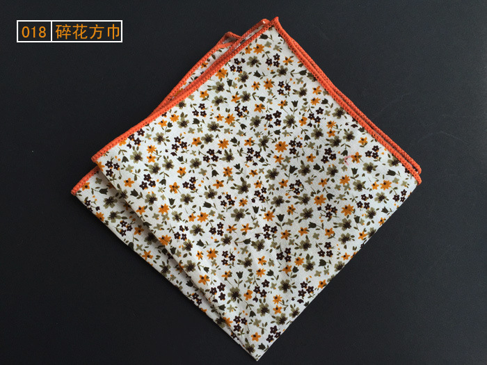 Men's Scottish Style Floral Paisley Pocket Squares Handkerchiefs  25cm*25cm For Men  Wedding Business Accessories