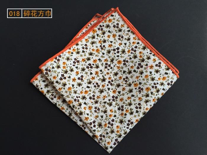 Men's Scottish Style Floral Paisley Pocket Squares Handkerchiefs  25cm*25cm For Men  Wedding Business Accessories