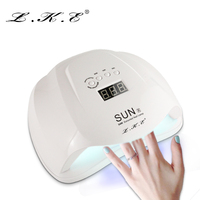 LKE 54W Nail Dryer Dual UV LED Nail Lamp Gel Polish Curing Light With Bottom 30s