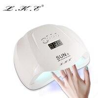 LKE 54W Nail Dryer Dual UV LED Nail Lamp Gel Polish Curing Light With Bottom 30s