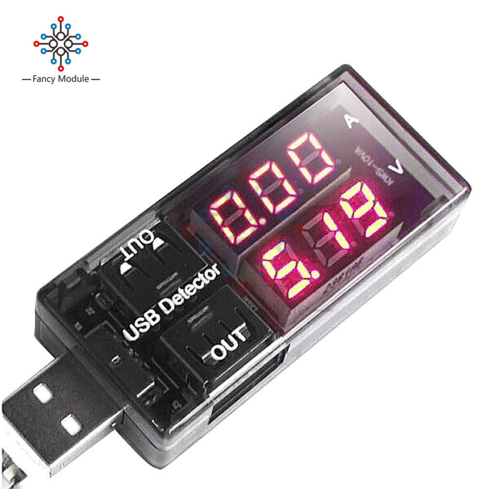 USB Charger Doctor Current Voltage Charging Detector Battery Voltmeter Ammeter red blue dual usb current voltage charging detector tester battery voltmeter ammeter charger doctor