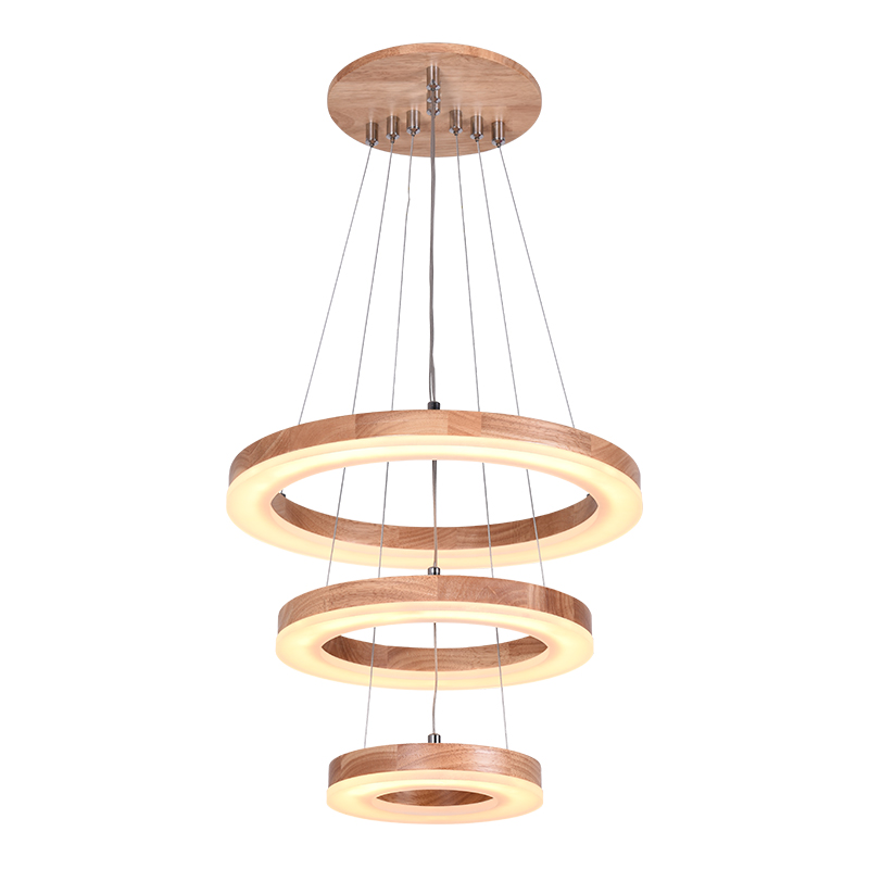 Ring Chandelier LED American Village Living Room Head Simple Restaurant Solid Wood Circle New CL ring chandelier led american village living room head simple restaurant solid wood circle new cl mz133