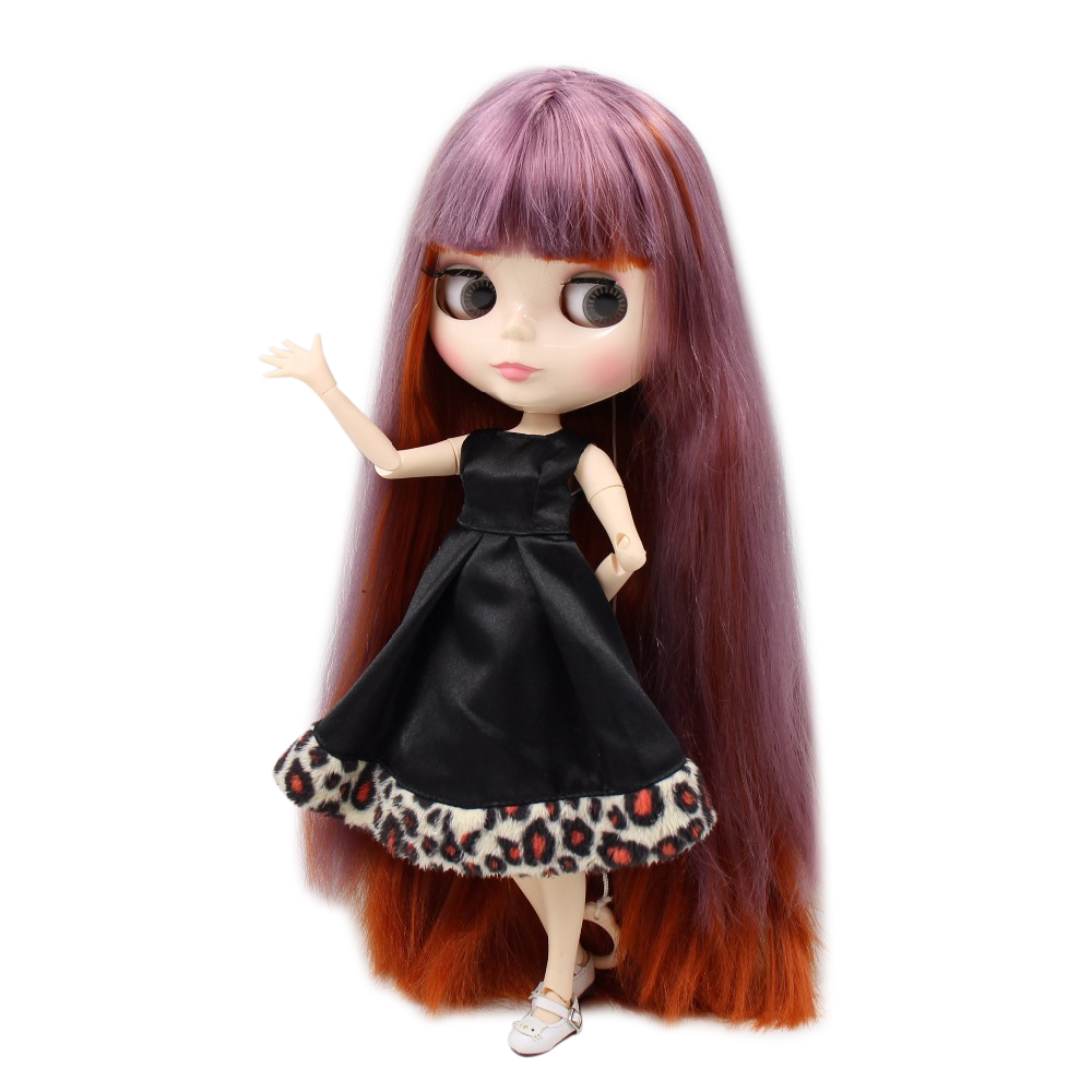 Dolls Punctual Factory Blyth Doll Bl1025/232 Purple Mix Red Brown Hair White Skin Joint Body 1/6 30cm To Have Both The Quality Of Tenacity And Hardness Dolls & Stuffed Toys