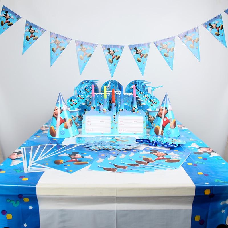 Disney Mickey Maus für 20 Kinder Jungen Glücklich Geburtstag Party Supplies Baby Shower Party Dekoration Geschirr Set 173 stücke-in Party Einweggeschirr aus Heim und Garten bei AliExpress - 11.11_Doppel-11Tag der Singles 1