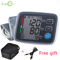 ilincare Health Care Digital Lcd Upper Arm Blood Pressure Monitor Heart Beat Meter Machine Tonometer for Measuring Automatic