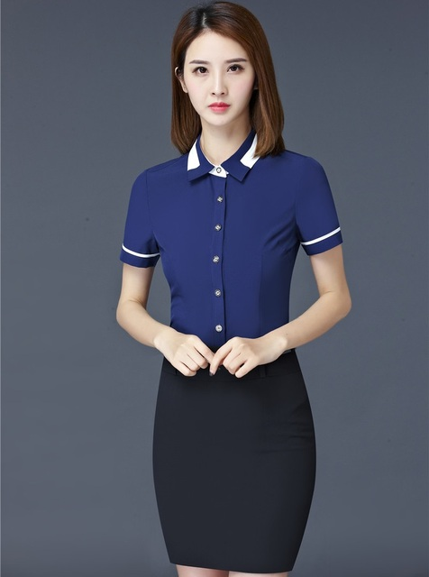 cd5ee09538c Plus Size 4XL Professional Business Suits With 2 Piece Blouses and Skirt  Ladies Office Uniforms Beauty