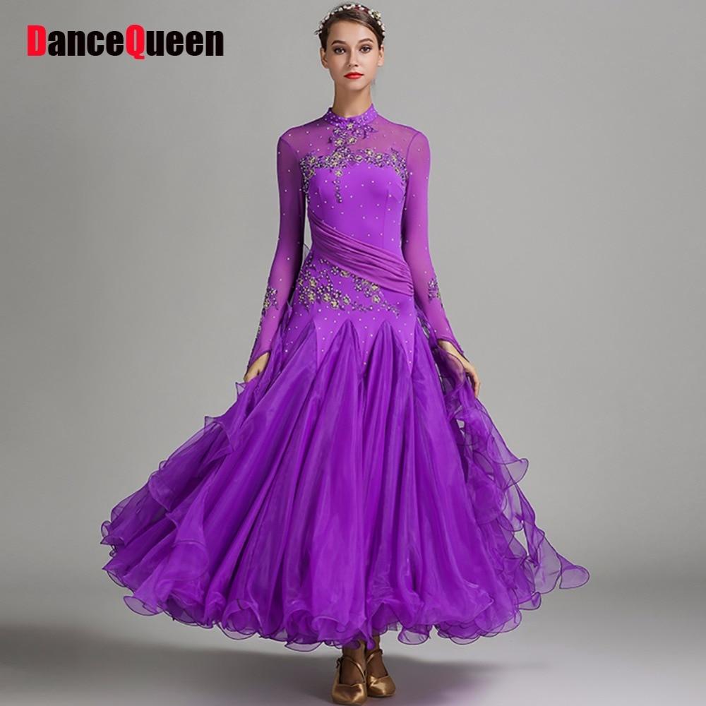 Original Modern Dance Dresses For Ladies Multi Color Plus Size Fabrics Skirts Sexy Fitness Feminine Women Ballroom Dress I114