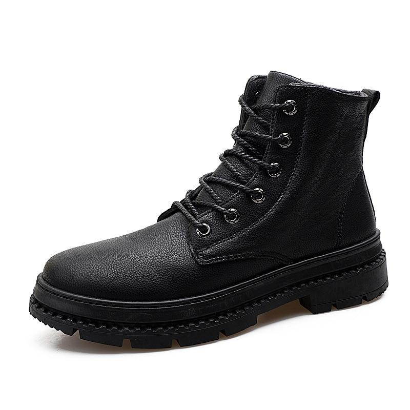 Chaussures Rond Martin Couture Lacets Air Printemps marron Bout Décontracté Plein De En Travail Rétro À Mode Moto Solide Homme Noir Autumm Pour Bottes Cheville bleu wRqPnFaHx6