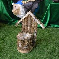 Modern Wooden Flower Pot With House Mold For Garden Wedding 27cm H 23CM W Or Bird