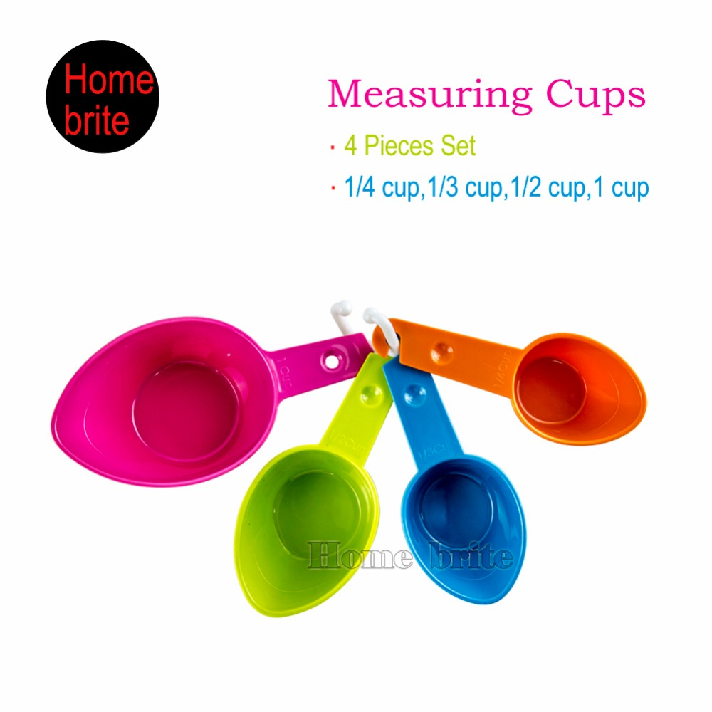 4pcs Set Measuring Spoons Colour Works Kitchen Cup And Spoon Baking Utensil K205