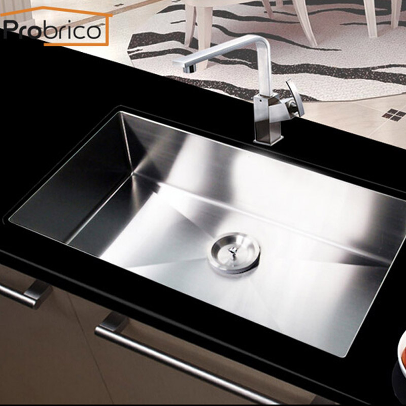 Probrico Stainless Steel Handmade Single Bowl Undermount Kitchen ...