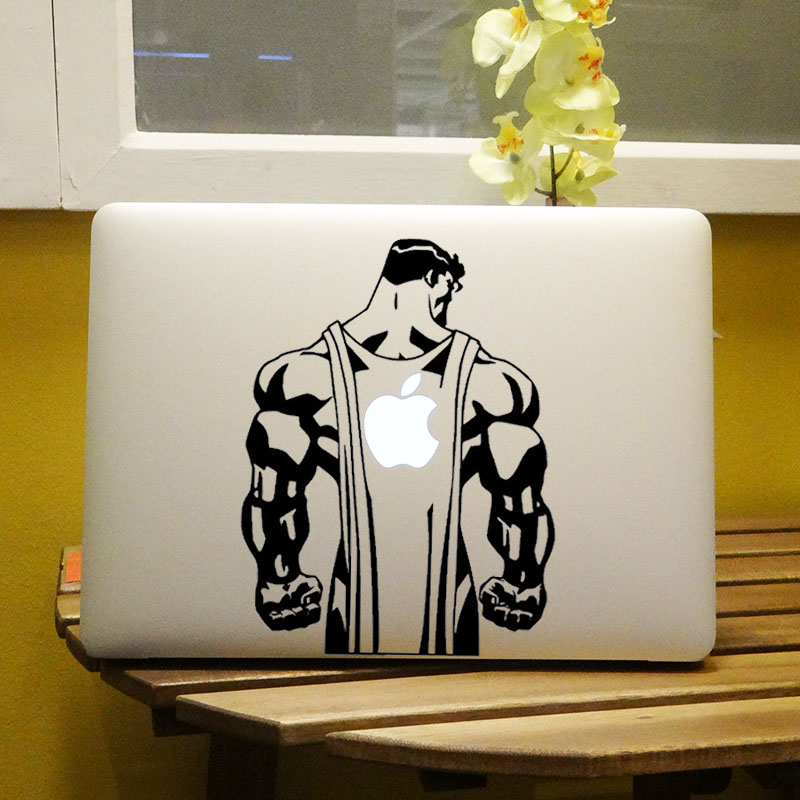Super Man Back Comic Hero Vinyl Notebook Sticker for MacBook Decal Air Pro Retina 11