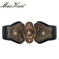 MaiKun Wide   Belts   for Women   belt   Luxyry Designer Brand Elastic   Belt   High Quality   belt     Cummerbund